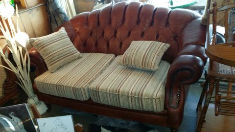 livingretro.net - SOFA CHESTERFIELD PIEL COLOR TABACO - LIVING RETRO - Retro & Vintage